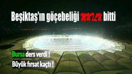BJK - BURSA 3-2 28 H 20160411 Beşiktaşın Göçebeliği mutlu bitti